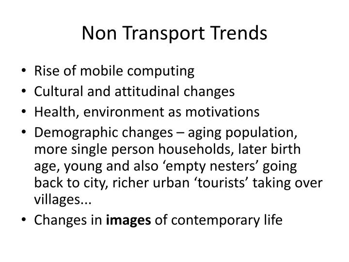 Non Transport Trends