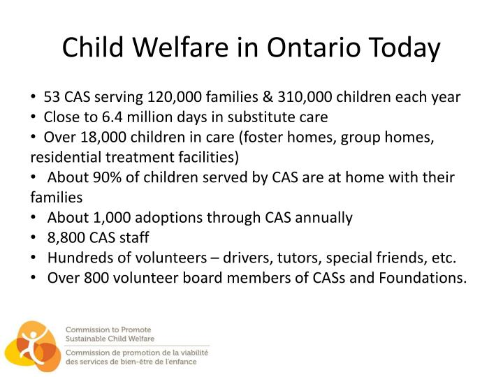 Child Welfare in Ontario Today