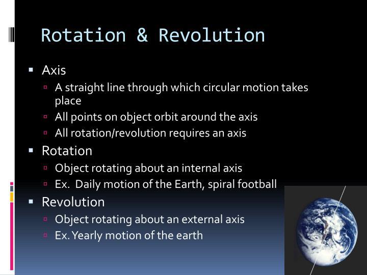 Rotation & Revolution