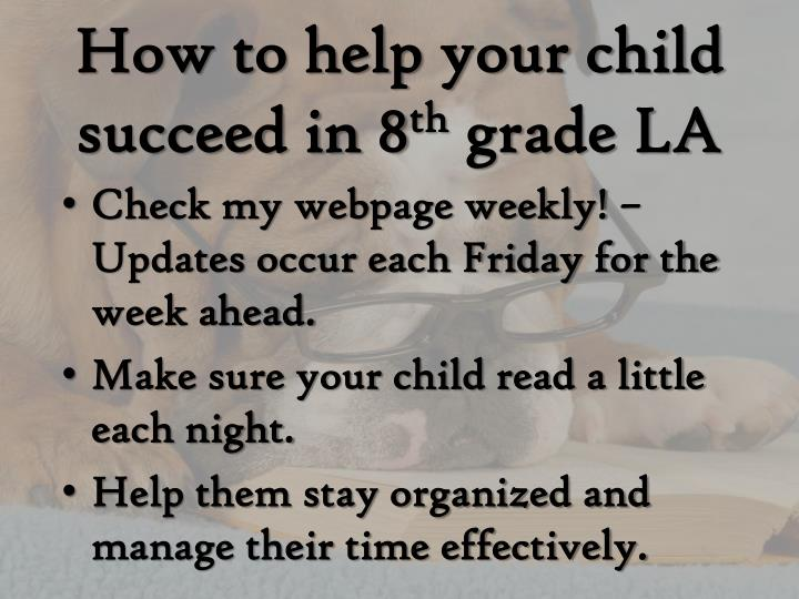 How to help your child succeed in 8