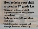 how to help your child succeed in 8 th grade la