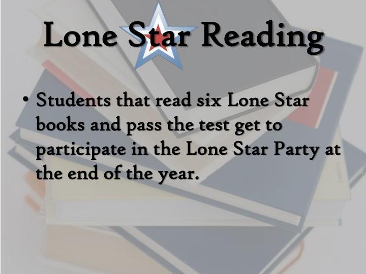 Lone Star Reading