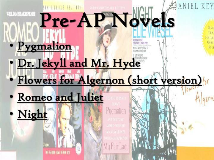 Pre-AP Novels