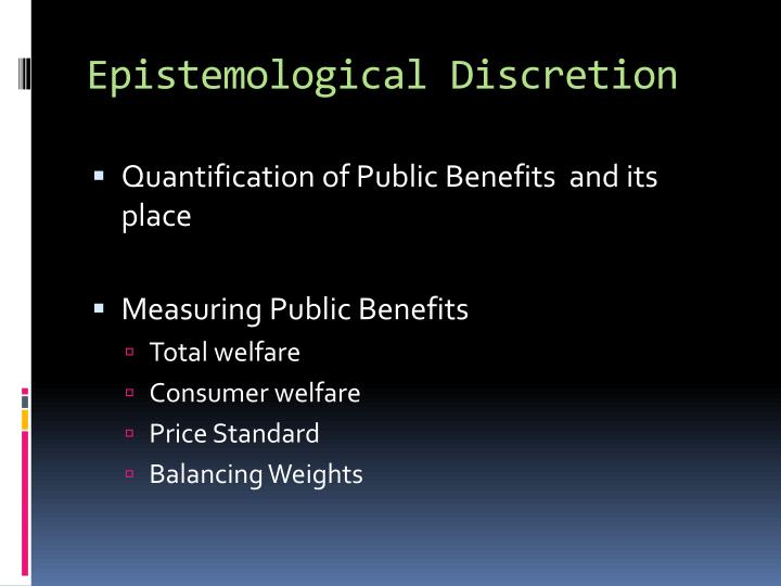 Epistemological Discretion