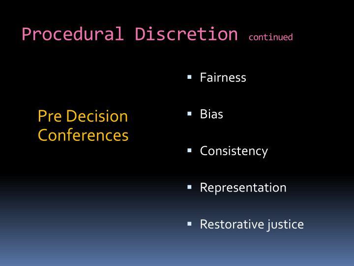 Procedural Discretion