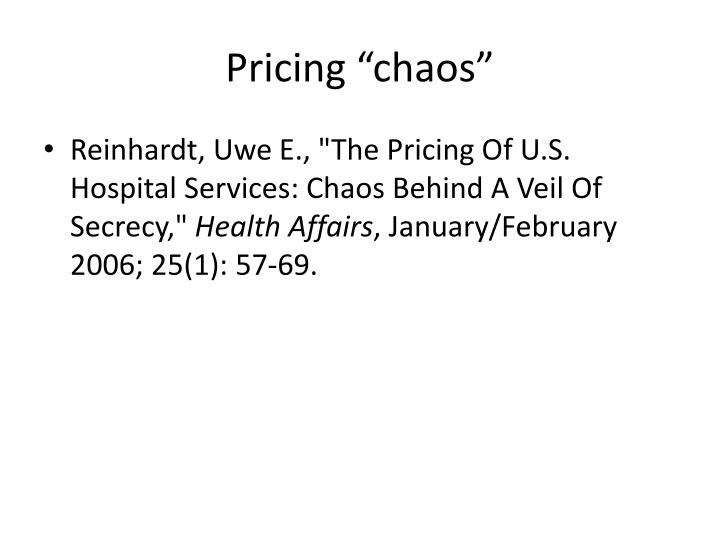 """Pricing """"chaos"""""""