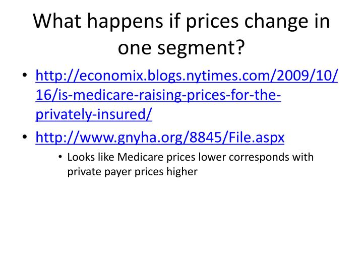 What happens if prices change in one segment?
