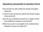 questions presented in teachers form