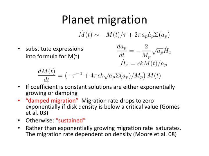 Planet migration