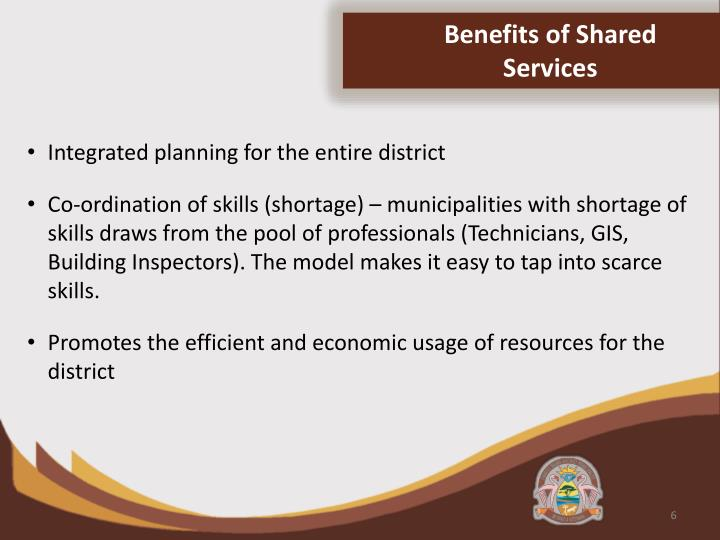 Benefits of Shared Services