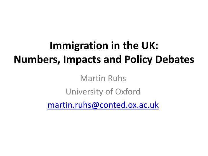 Immigration in the UK: