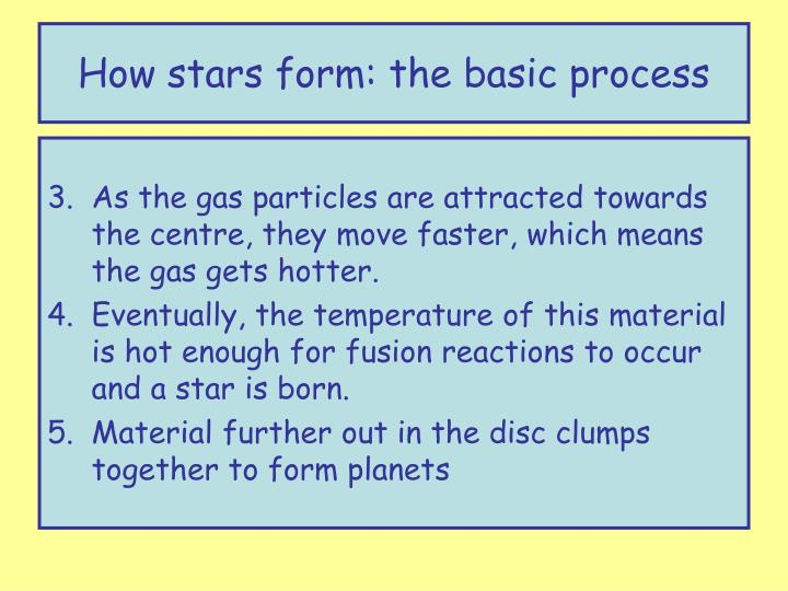 How stars form: the basic process