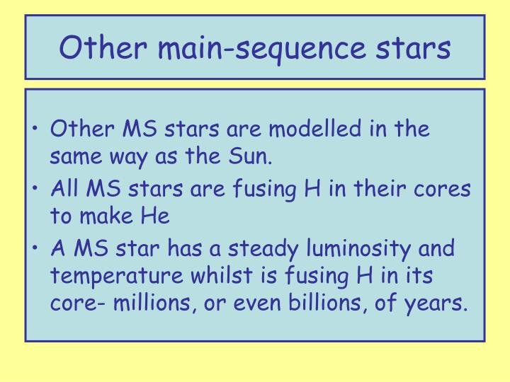 Other main-sequence stars