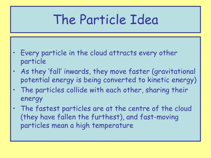 The Particle Idea
