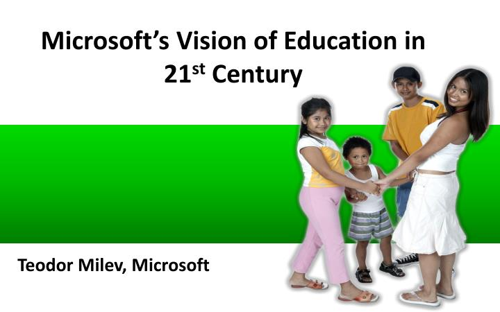 Microsoft's Vision of Education in 21