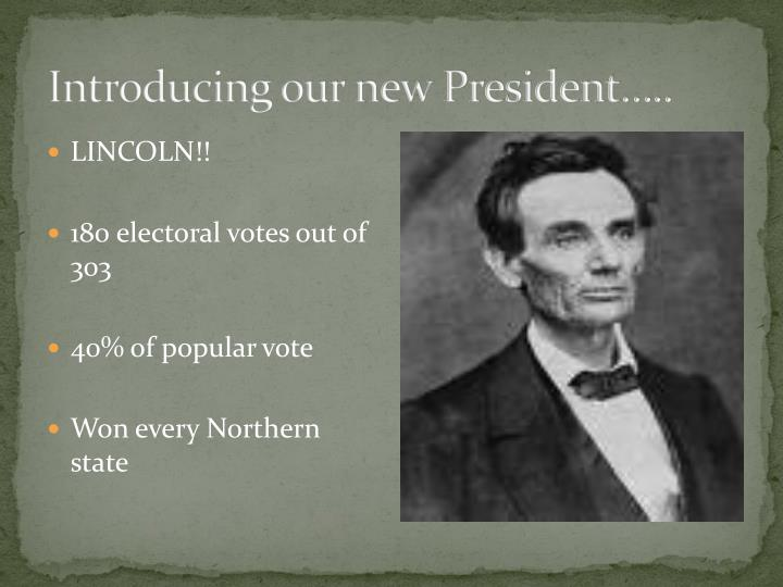 Introducing our new President…..