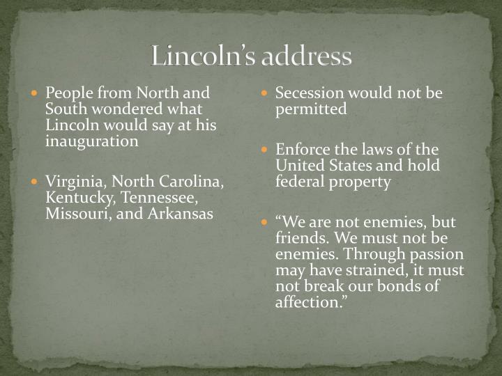 Lincoln's address