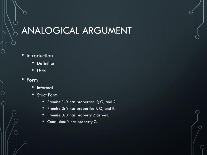 Analogical Argument