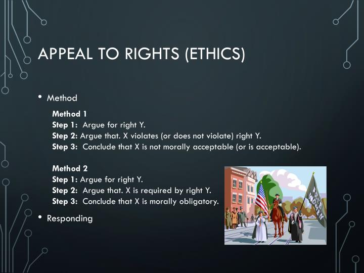 Appeal to Rights (Ethics)