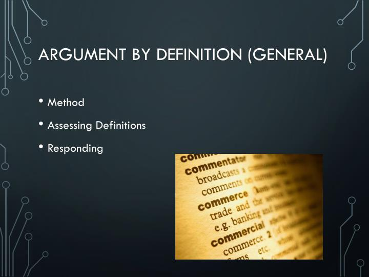 Argument by Definition (General)