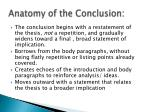 anatomy of the conclusion