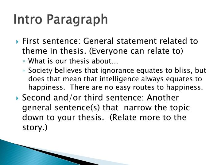 Intro Paragraph