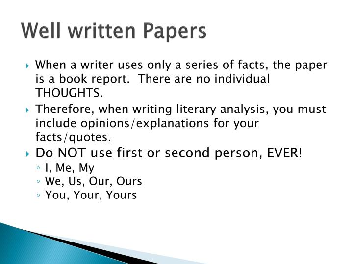 Well written Papers