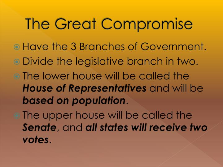 The Great Compromise