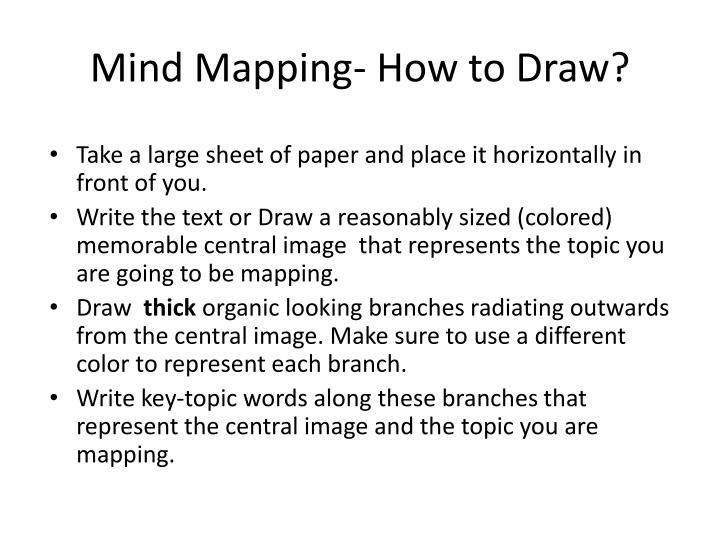 Mind Mapping- How to Draw?