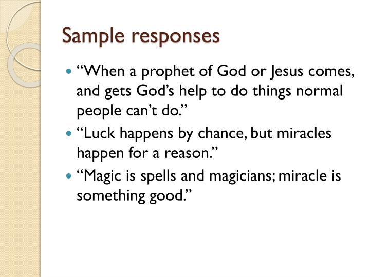 Sample responses