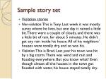 sample story set