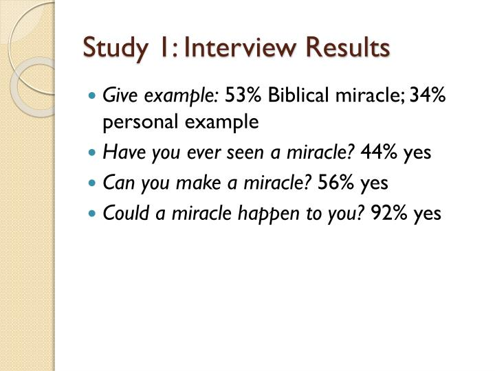 Study 1: Interview Results