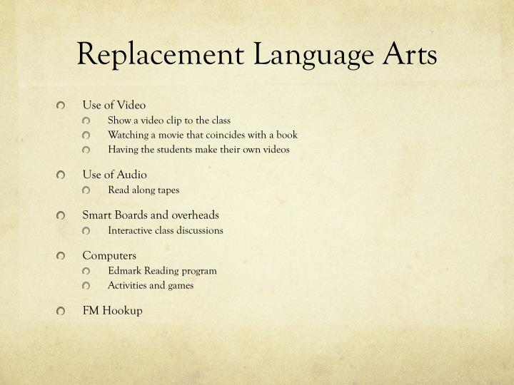 Replacement Language Arts