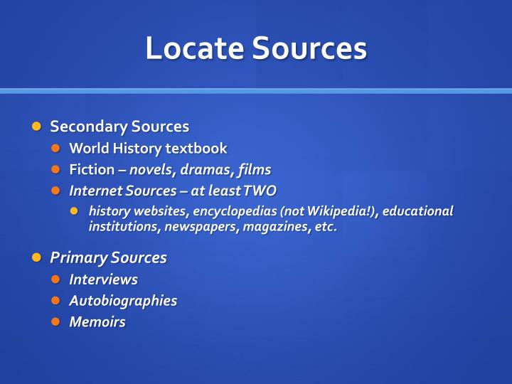 Locate Sources