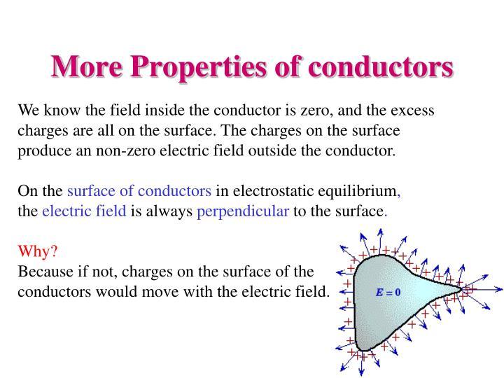 More Properties of conductors