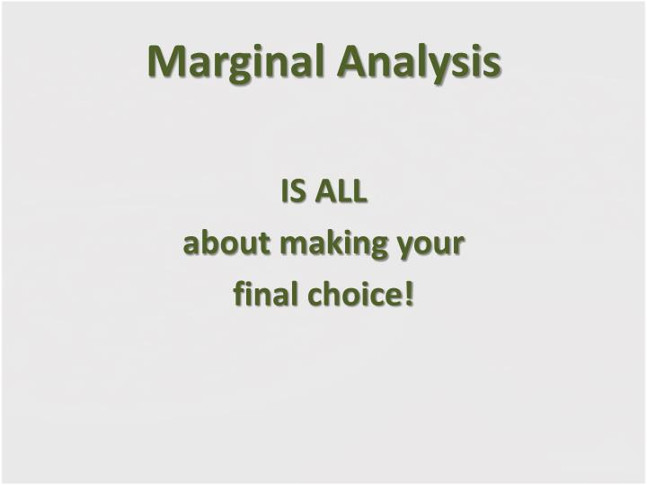 Marginal analysis1