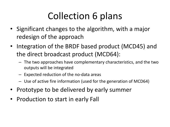Collection 6 plans