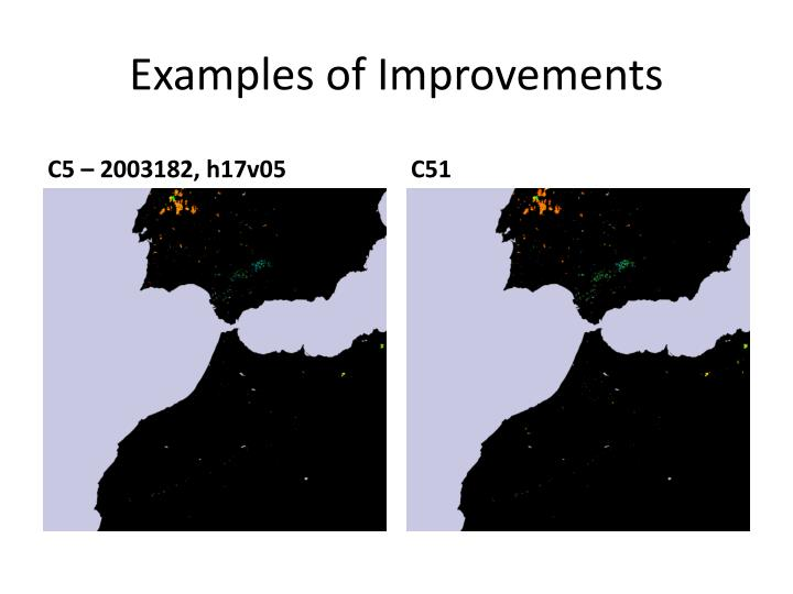 Examples of Improvements