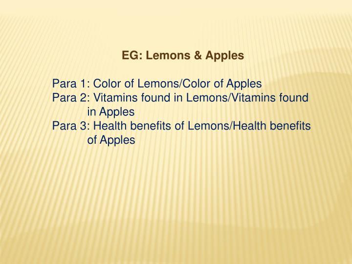 EG: Lemons & Apples