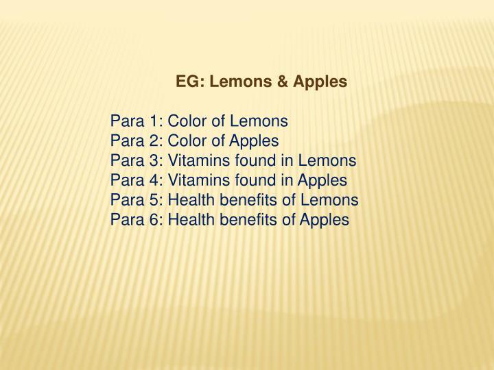 EG: Lemons &