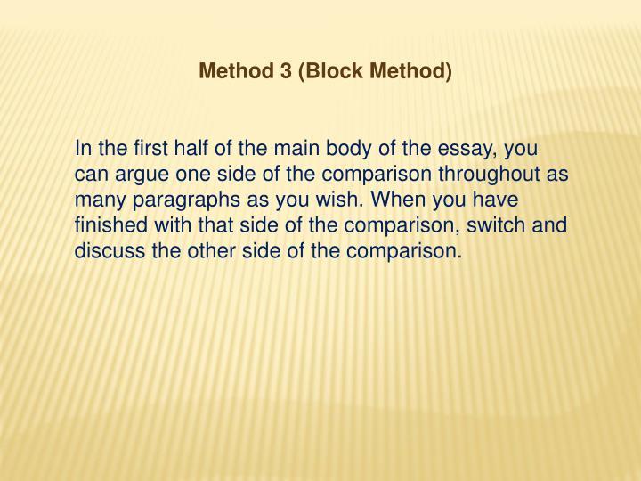 Method 3 (Block Method)