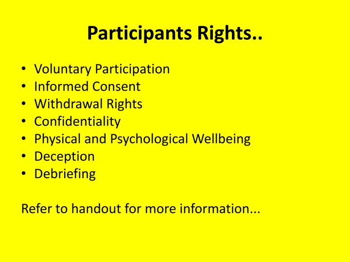 Participants Rights..
