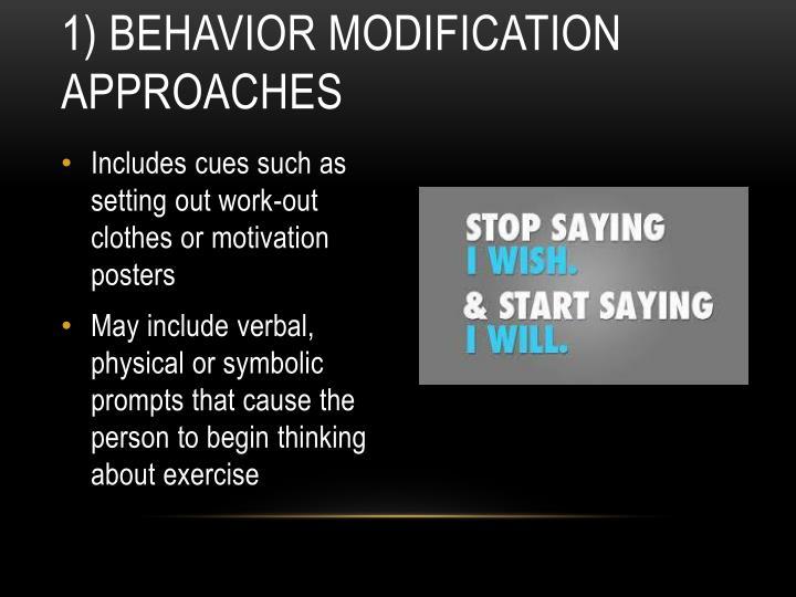 1) Behavior Modification Approaches