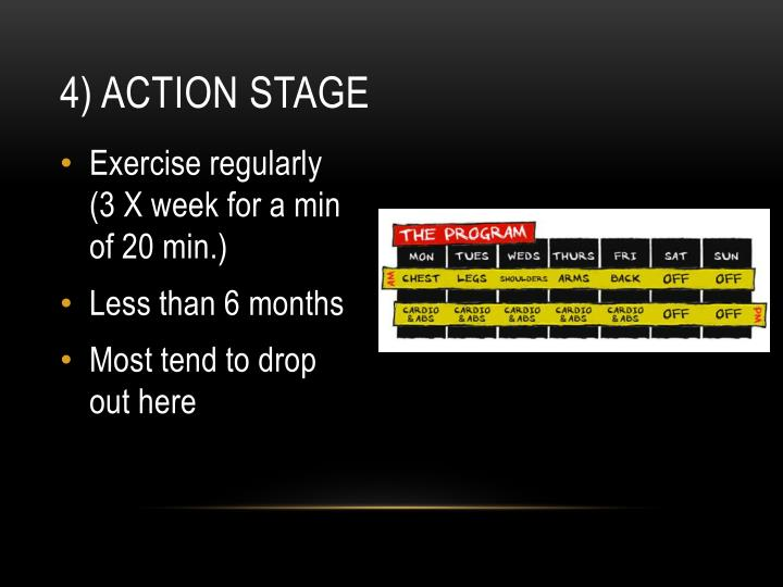4) Action stage