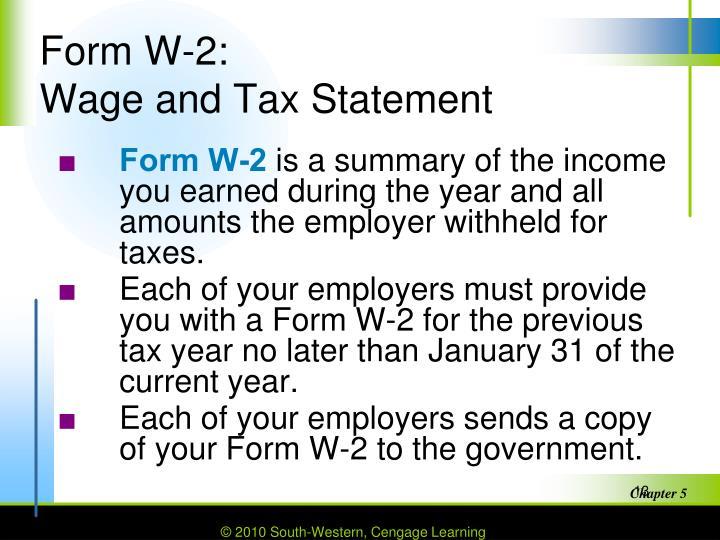 Form W-2: