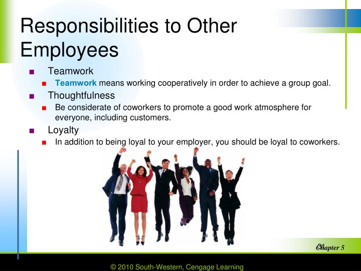 Responsibilities to Other Employees