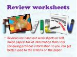 review worksheets