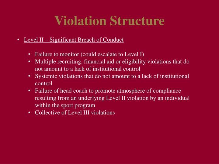 Violation Structure