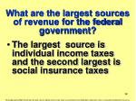 what are the largest sources of revenue for the federal government