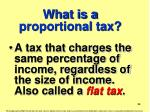 what is a proportional tax